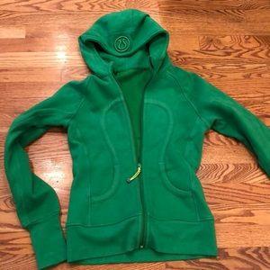 Green lululemon zip up size small